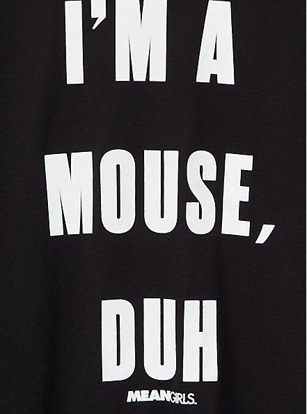 Slim Fit Crew Tee - Signature Jersey Mean Girls Mouse, Duh Black, DEEP BLACK, alternate