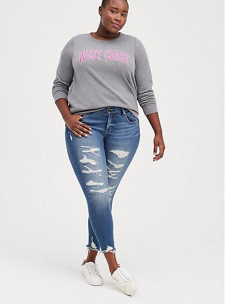 Sweatshirt - Cozy Fleece West Coast Grey, MEDIUM HEATHER GREY, alternate