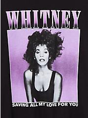 Classic Fit Crew Tee - Whitney Houston Black, DEEP BLACK, alternate