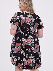Sleep Dress - Super Soft Jersey Floral Black, MULTI, alternate