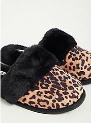 Plus Size Slipper - Faux Suede Leopard (WW), LEOPARD, alternate