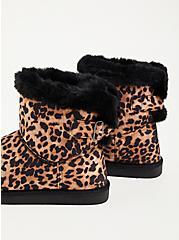 Plus Size Fur-Lined Bootie - Faux Suede Black (WW), LEOPARD, alternate