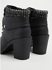 Plus Size Sweater Hiker Boot - Black Faux Leather (WW), BLACK, alternate