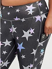 Full Length Legging - Wicking Active Stars Shine Grey, STAR - GREY, alternate