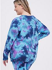 Crew Sweatshirt - Active Tie Dye Blue, TIE DYE, alternate