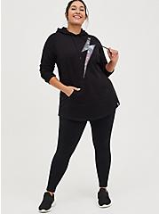 Plus Size Active Tunic Sweatshirt - Bolt Black, DEEP BLACK, alternate