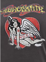 Plus Size Classic Fit Vintage Ringer Tee - Aerosmith Black, DEEP BLACK, alternate