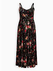 Tiered Maxi Dress - Super Soft Black Floral, FLORAL - BLACK, hi-res