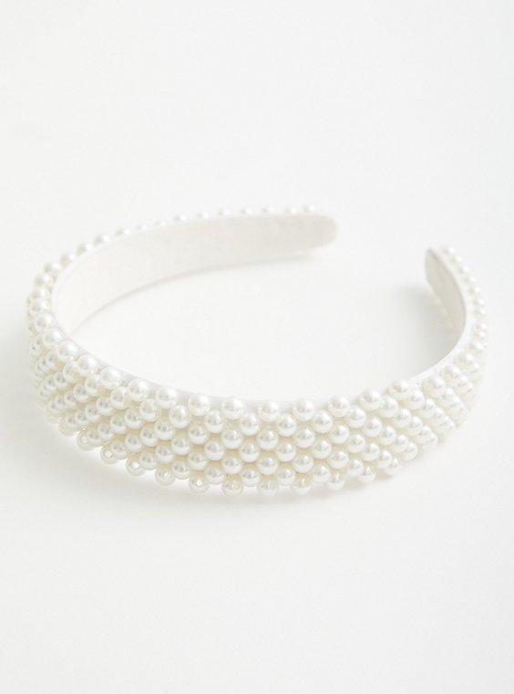 White Pearl Headband, , hi-res