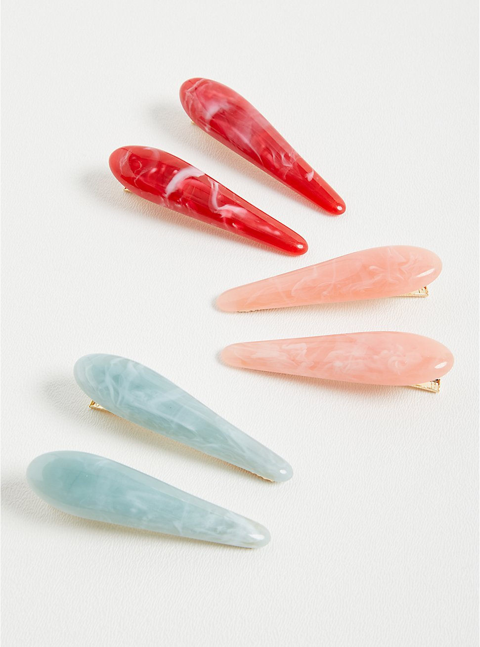 Multi Colored Resin Clips - Set of 3, , hi-res