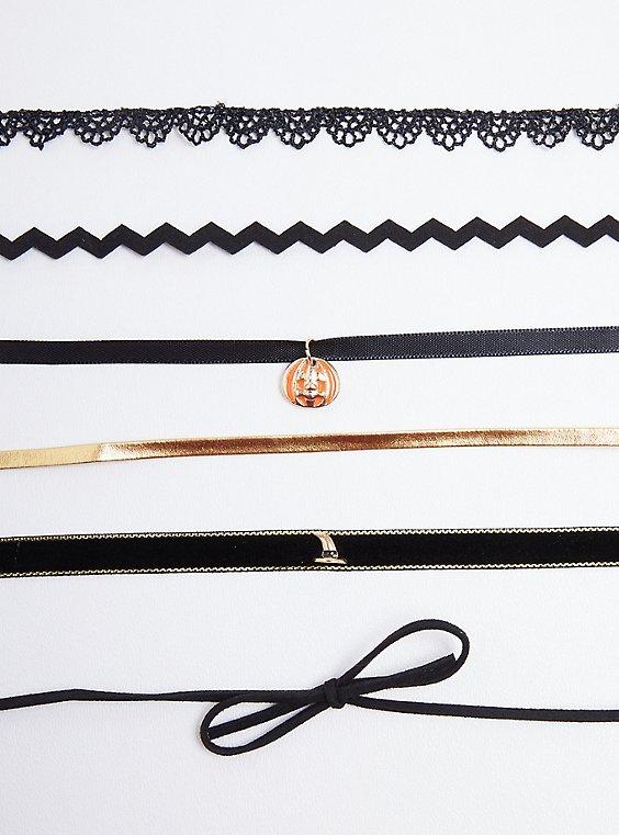 Pumpkin Choker Set - Orange & Black, , hi-res