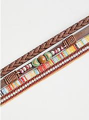 Brown & Orange Magnetic Bracelet, MULTI, alternate