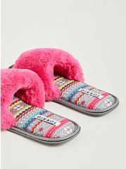 Fur Band Slipper - Pink (WW), PINK, alternate