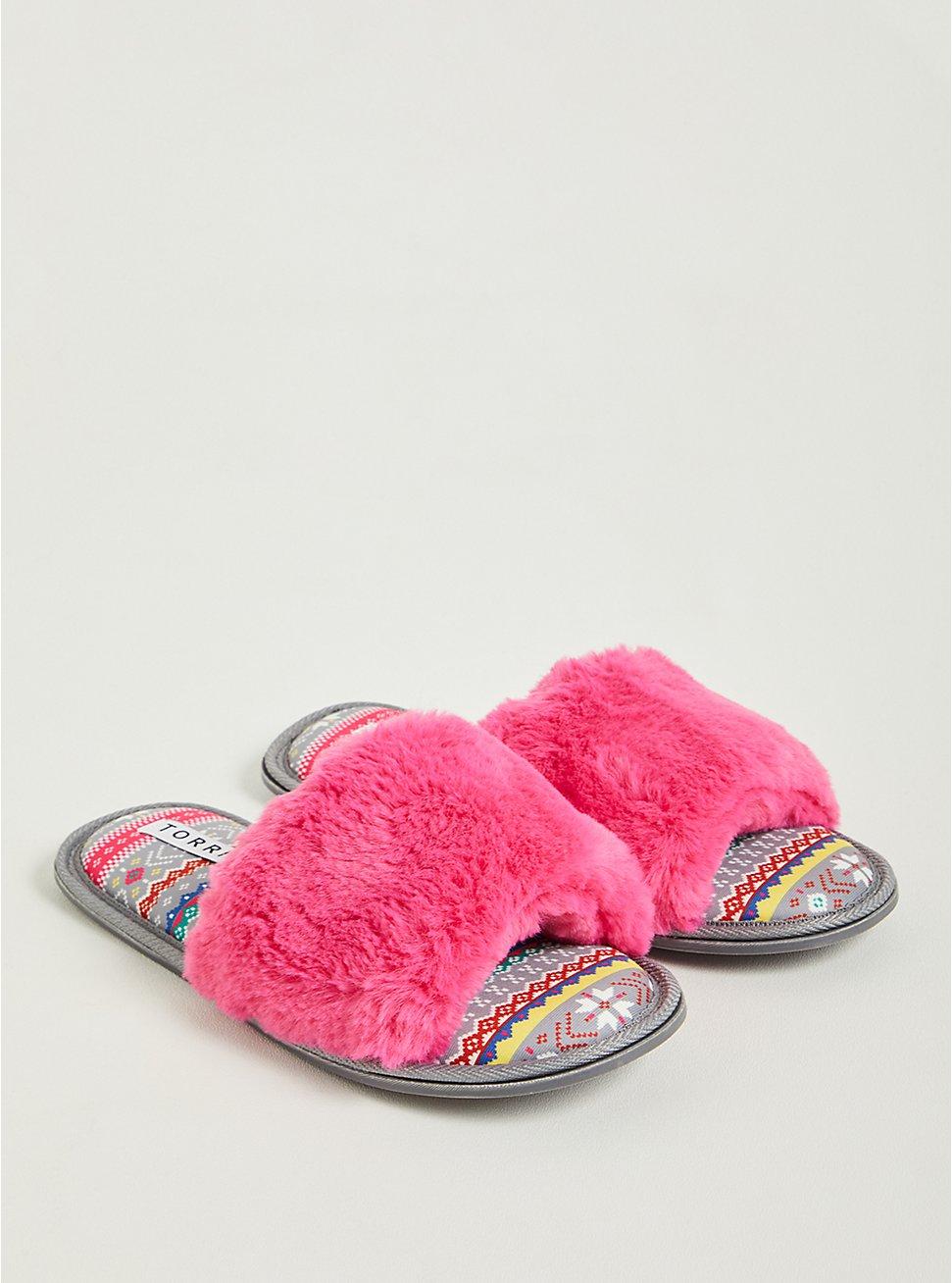 Fur Band Slipper - Pink (WW), PINK, hi-res