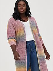 Ombre Duster - Acrylic Cotton Rainbow, STRIPE - MULTICOLOR, alternate