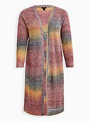 Ombre Duster - Acrylic Cotton Rainbow, STRIPE - MULTICOLOR, hi-res