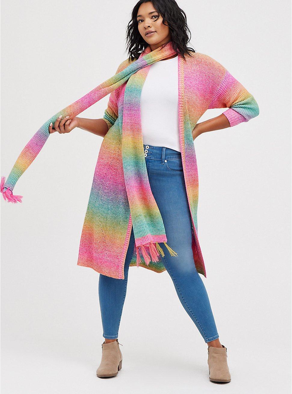 Ombre Duster - Rainbow Brite, STRIPE - MULTICOLOR, hi-res
