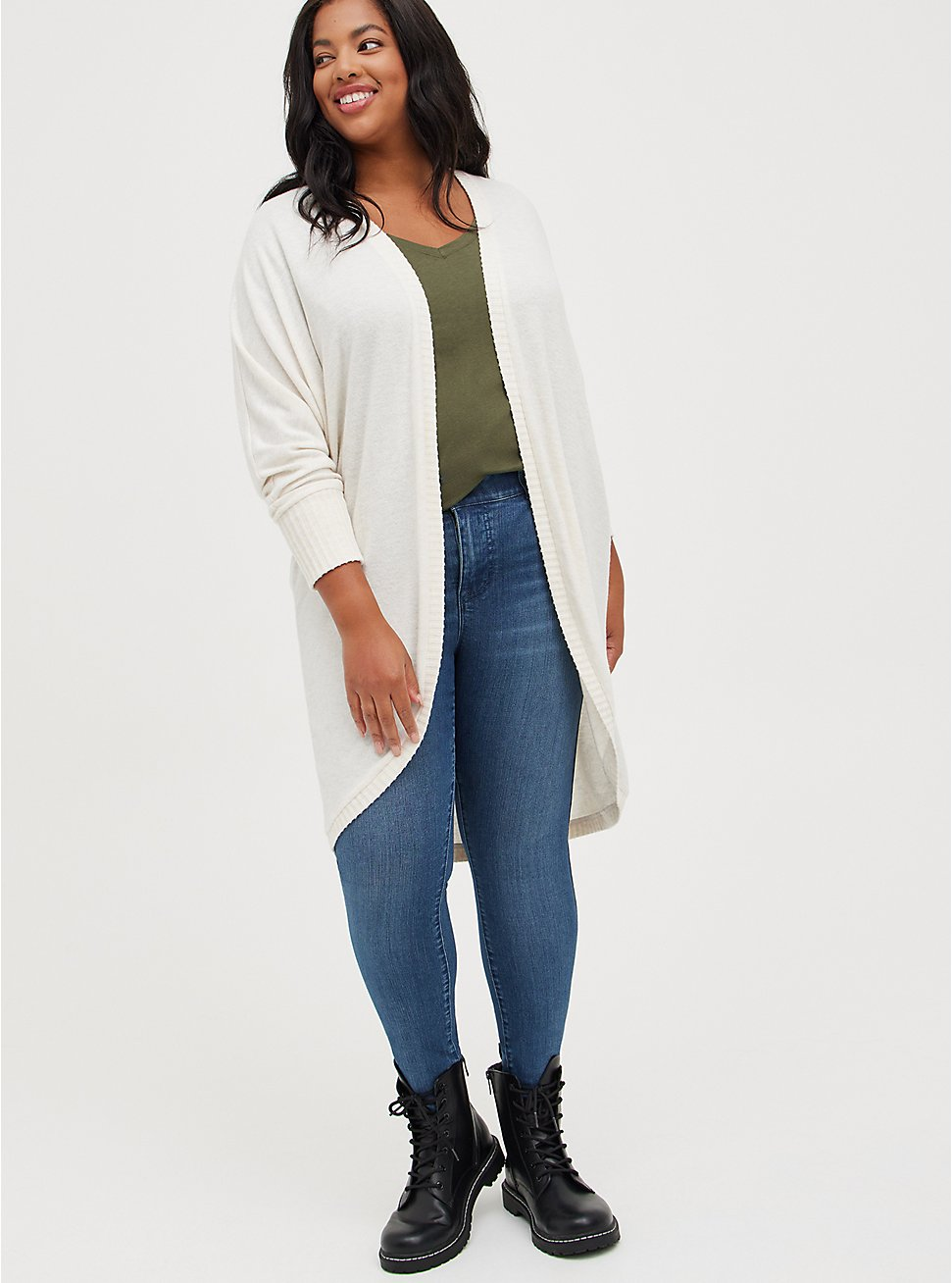 Cocoon Kimono - Super Soft Plush Heather Oatmeal, TAN/BEIGE, hi-res