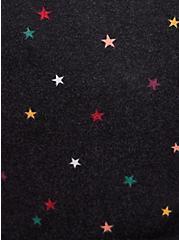 Skater Dress - Super Soft Plush Star Black, STARS - BLACK, alternate
