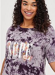 Favorite T-Shirt Dress - Super Soft Purple Tie Dye Nope, TIE DYE, alternate