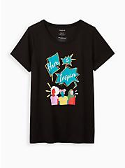#TorridStrong Classic Fit Everyday Tee - Signature Jersey Here to Inspire Black, DEEP BLACK, hi-res