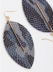 Camo Print Leaf Earring, , hi-res