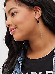 Celestial Linear Earring Set of 3 - Silver Tone, , alternate