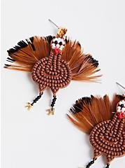Beaded Turkey Statement Earrings , , alternate