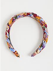 Floral Braided Headband, , alternate