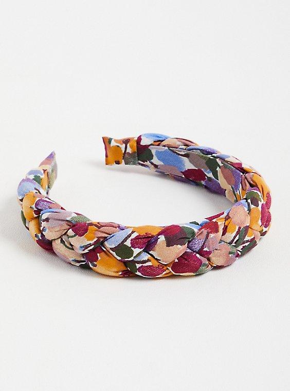 Floral Braided Headband, , hi-res