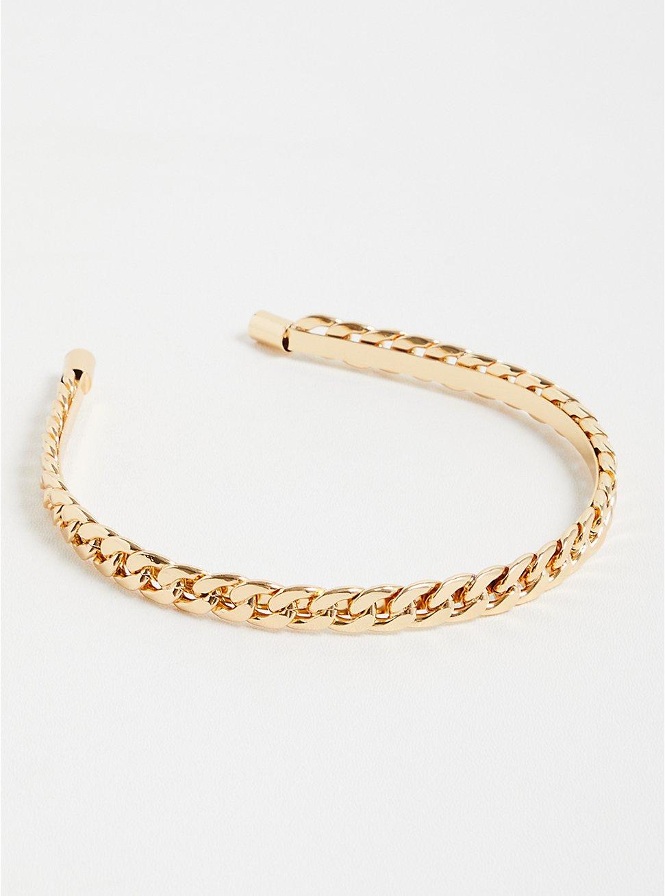 Link Headband - Gold Tone, , hi-res