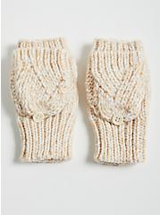 Convertible Fingerless Gloves - Oatmeal, , alternate