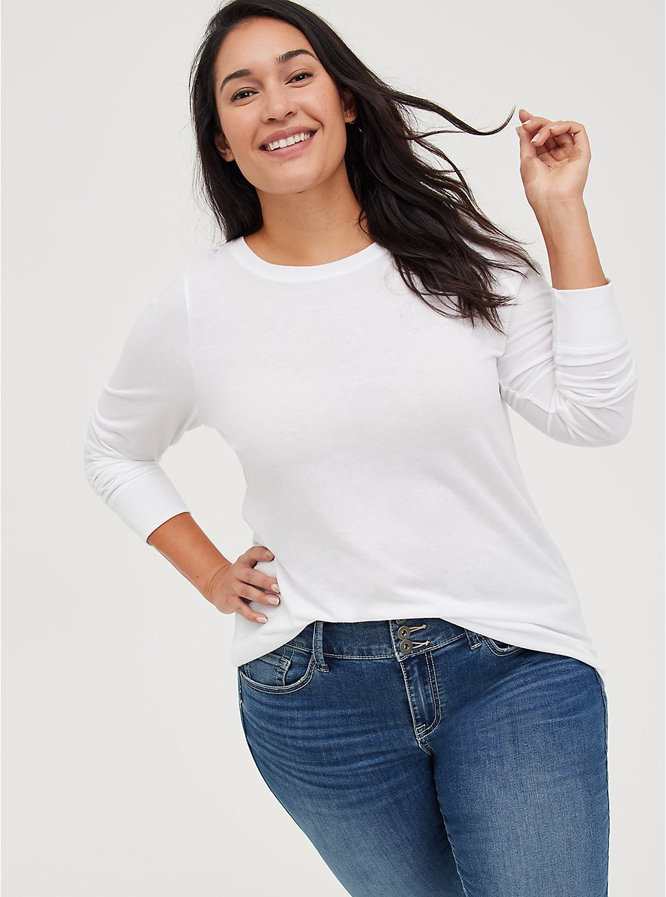 Everyday Tee - Signature Jersey White, BRIGHT WHITE, hi-res