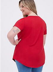 Classic Fit Girlfriend Tee - Signature Jersey Red, JESTER RED, alternate