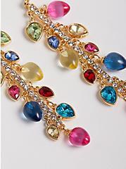 Holiday Light Linear Earring - Multi Color, , alternate
