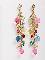 Holiday Light Linear Earring - Multi Color, , hi-res