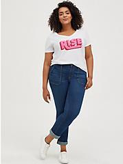 Breast Cancer Awareness Girlfriend Tee – Signature Jersey Rise White, BRIGHT WHITE, alternate
