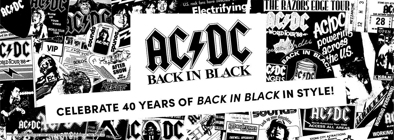 ACDC Back In Black. Celebrate 40 Years of Back in Black In Style!