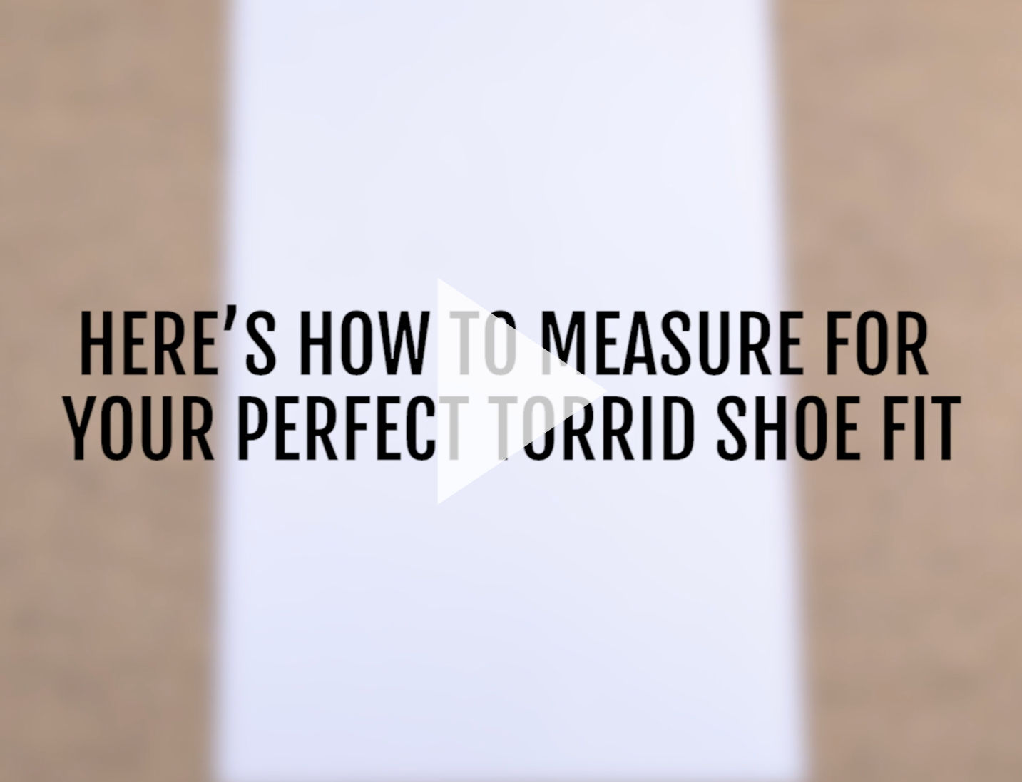 How to Measure your foot video