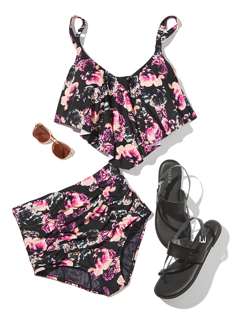 FLORAL POOLSIDE LOOK, , hi-res