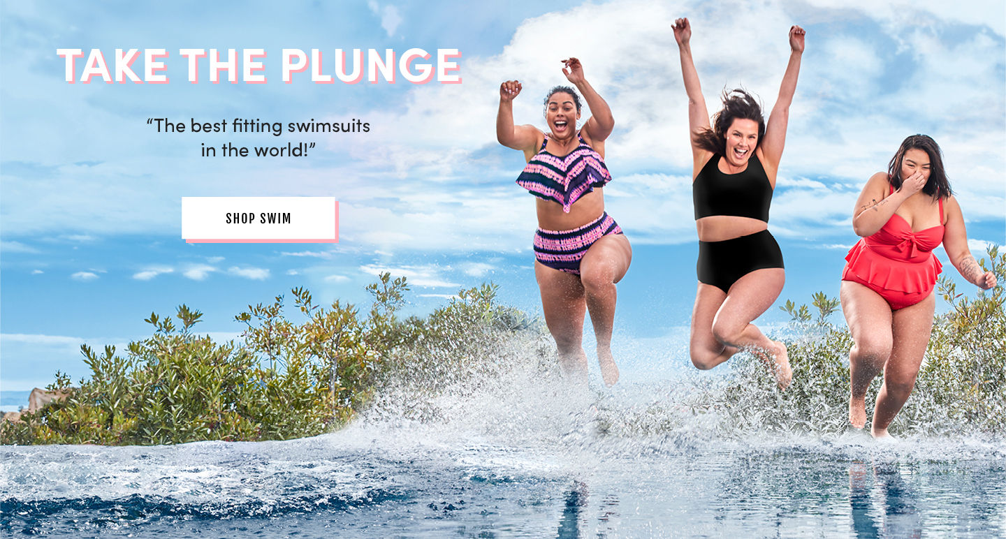 Take The Plunge 'The best fitting swimsuits in the world!' Shop Swim