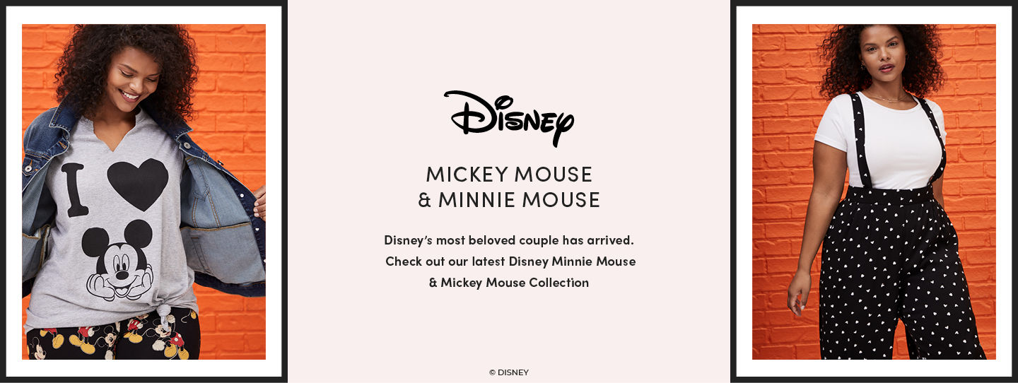 Disney's most beloved couple has arrived. Check out our latest Disney Minnie Mouse & Mickey Mouse Collection
