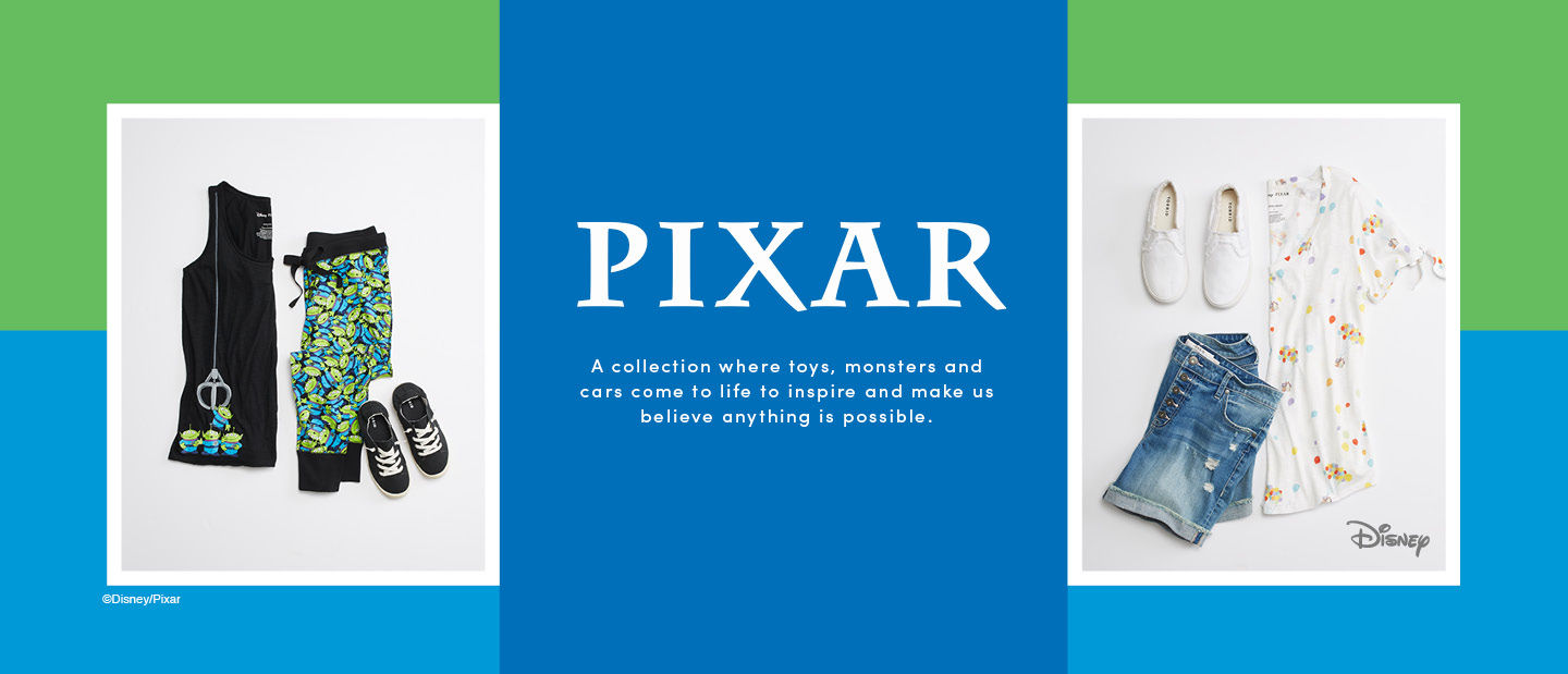 Pixar. A collection where toys, monsters and cars come to life to inspire and make us believe anything is possible