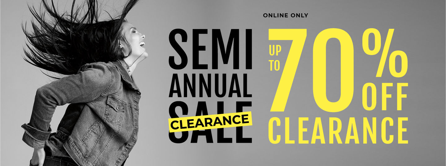 Last Day! Semi Annual Sale Extra 50% Off Clearance.