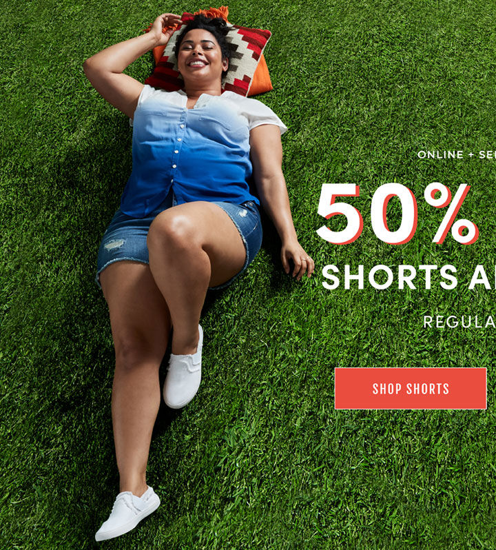 Online + Select Stores 50% off Shorts and Crops Regular Price. Shop Shorts