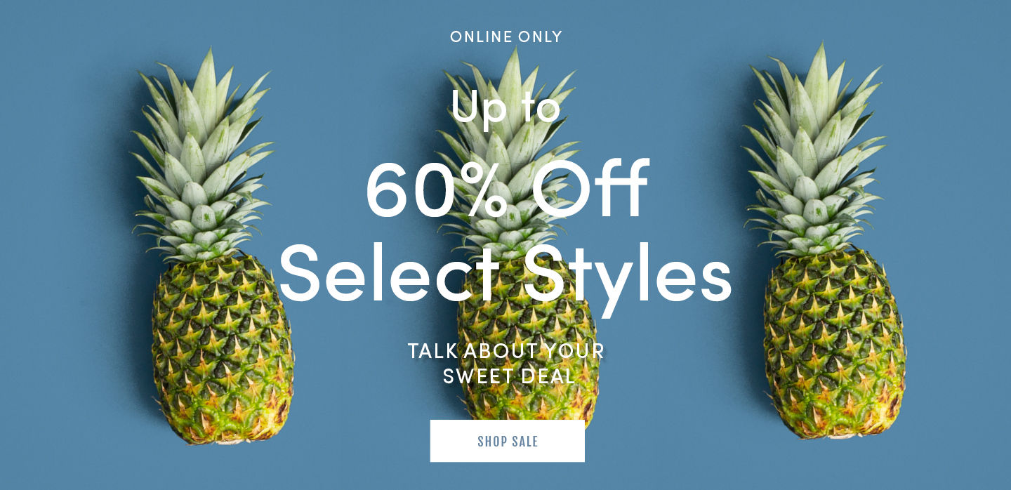 Online Only Summer Sale Up To 60% Off Select Styles. Shop Sale