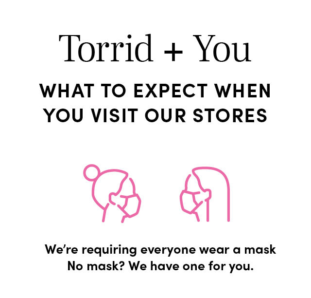 What to Expect when you visit our stores - We're requiring everyone wear a mask. No mask? We have one for you