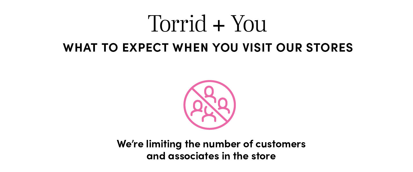 What to Expect when you visit our stores - We're limiting the number of customers and associates in the store