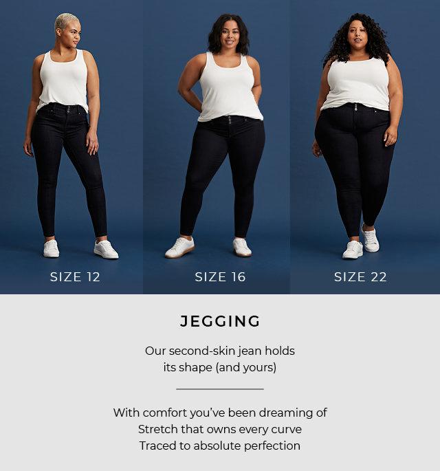 Plus Size Stretch Clous détaillé Denim Look Jeggings