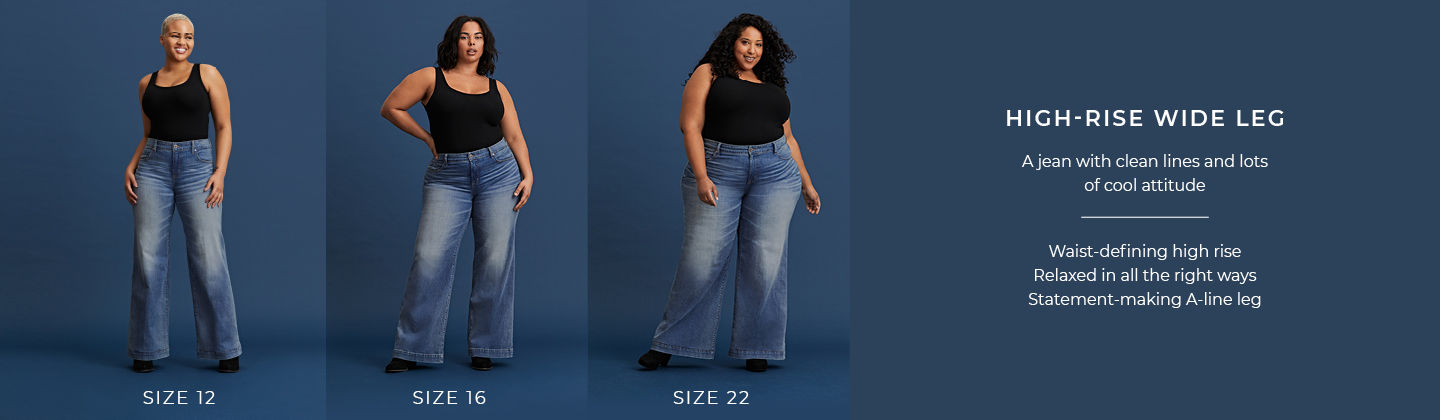 Waist Wide Leg Jeans - A jean with clean lines and lots of cool attitude